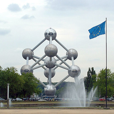 Atomium vlag europa