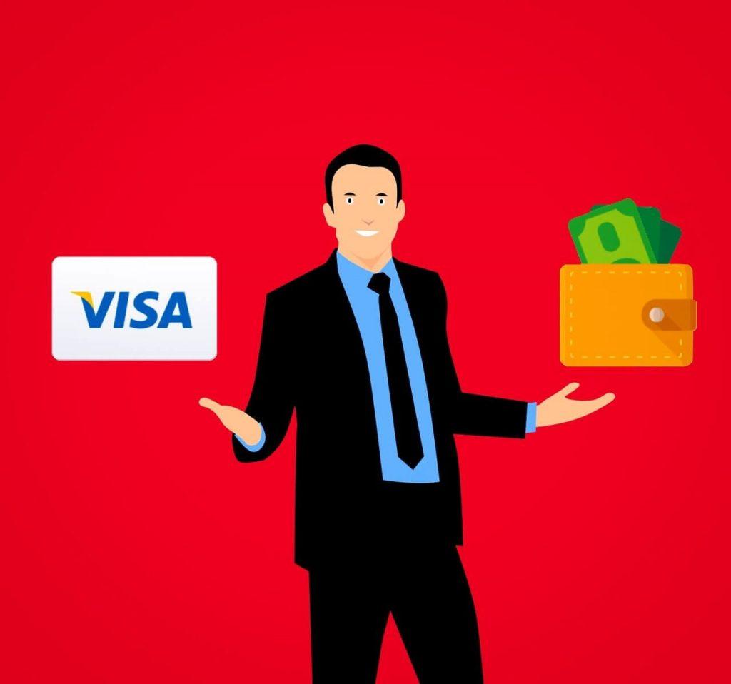 que faire avec ca carte de credit Visa 1