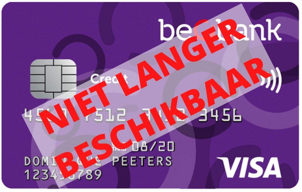 Beobank visa niet langer beschikbaar
