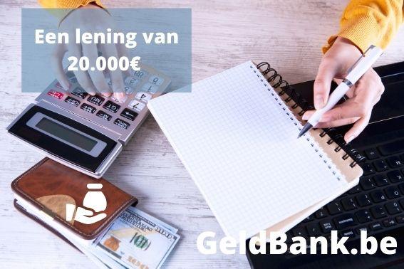 Lening van 20000 euros
