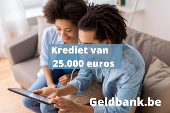 Krediet van 25000 euros