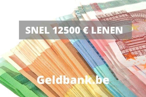 12500 euro lenen