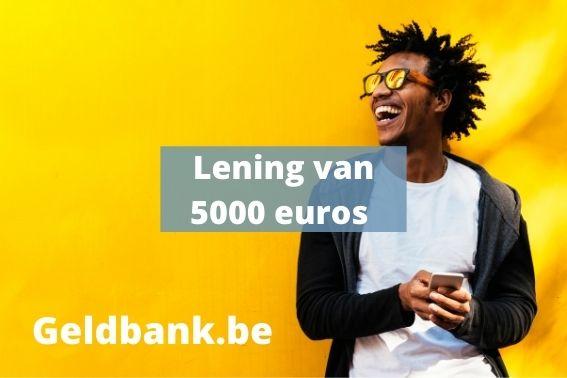 5000 euro lenen