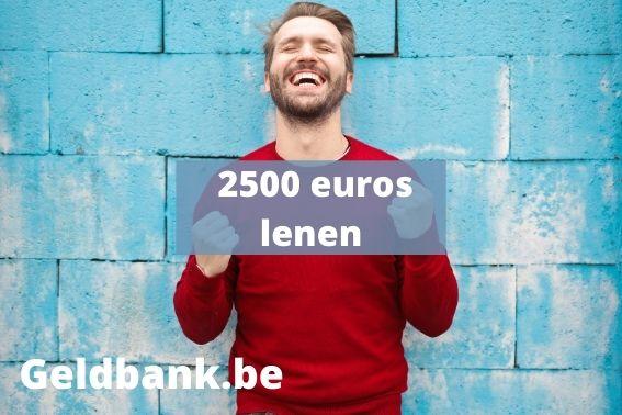 Lening van 2500 euro