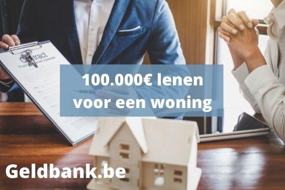Woonlening van 100000 euro