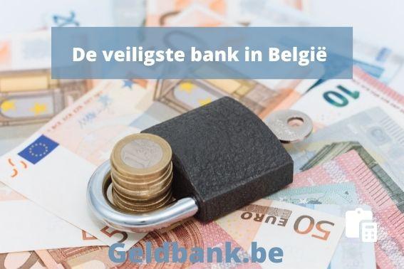 De veiligste bank in Belgie in 2020