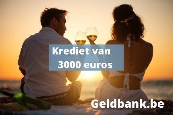 Krediet van 3000 euros