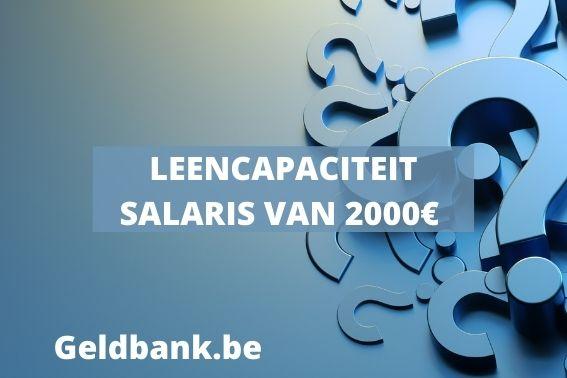 Leenvermogen salaris 2000 euro netto