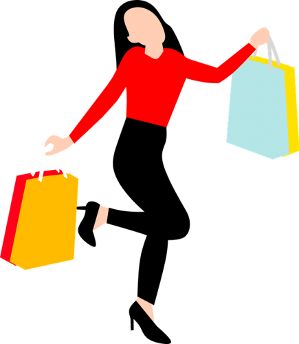 woman doing shopping